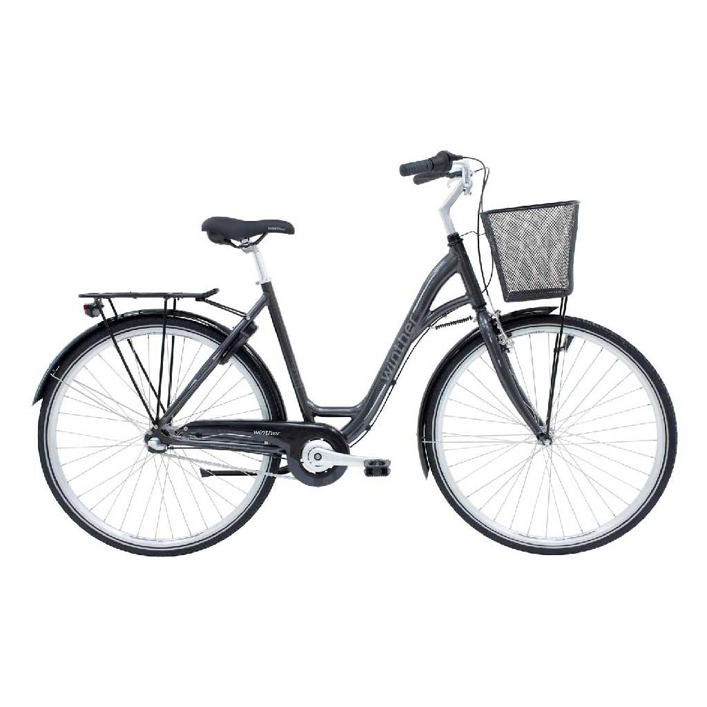 Cykelservice Aabenraa - Winther Damecykel grå
